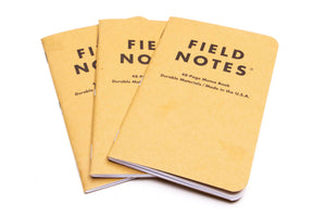 3 pack field notes memo books