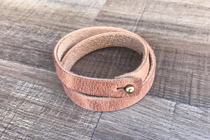 Hoss Double Wrap Leather Wristband