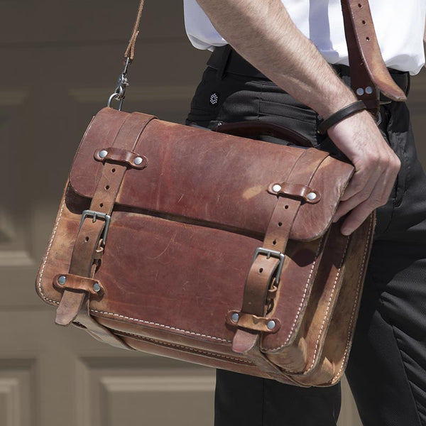 The Briefcase In Natural Thirteen50 Leather