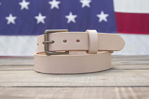 Natural Full Grain Leather Belt