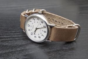Natural Horween Chromexcel Leather Nato Watch Strap