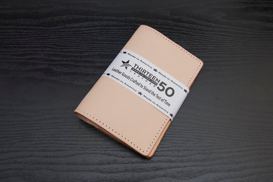 natural leather traveler wallet