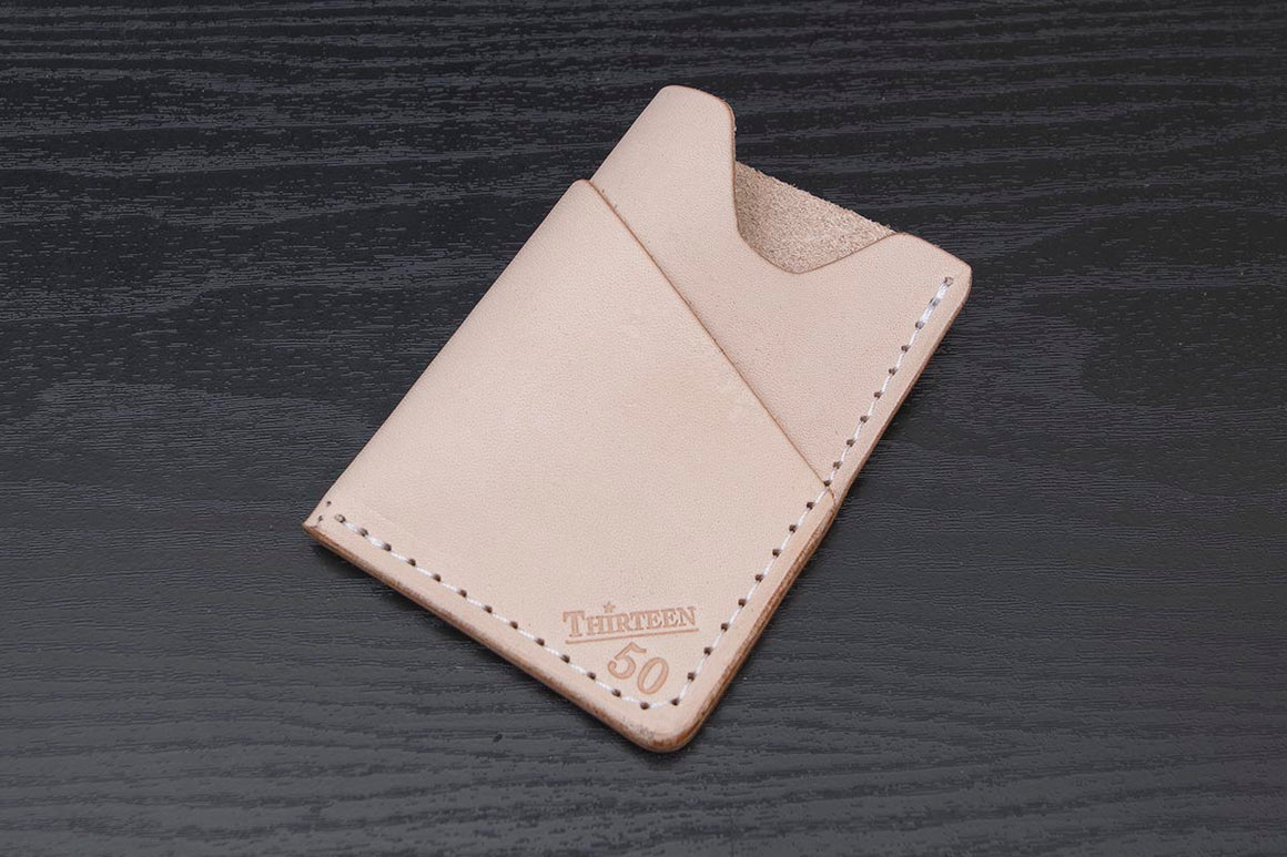 Wrap | Natural Wrap Minimalist Wallet - Thirteen50 Leather