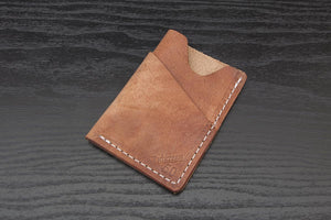 Old World Wrap around leather card wallet
