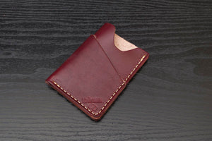 Oxblood Wrap around leather card wallet
