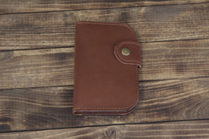 Brown Snap Bifold Wallet