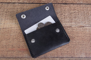 black lincoln card wallet