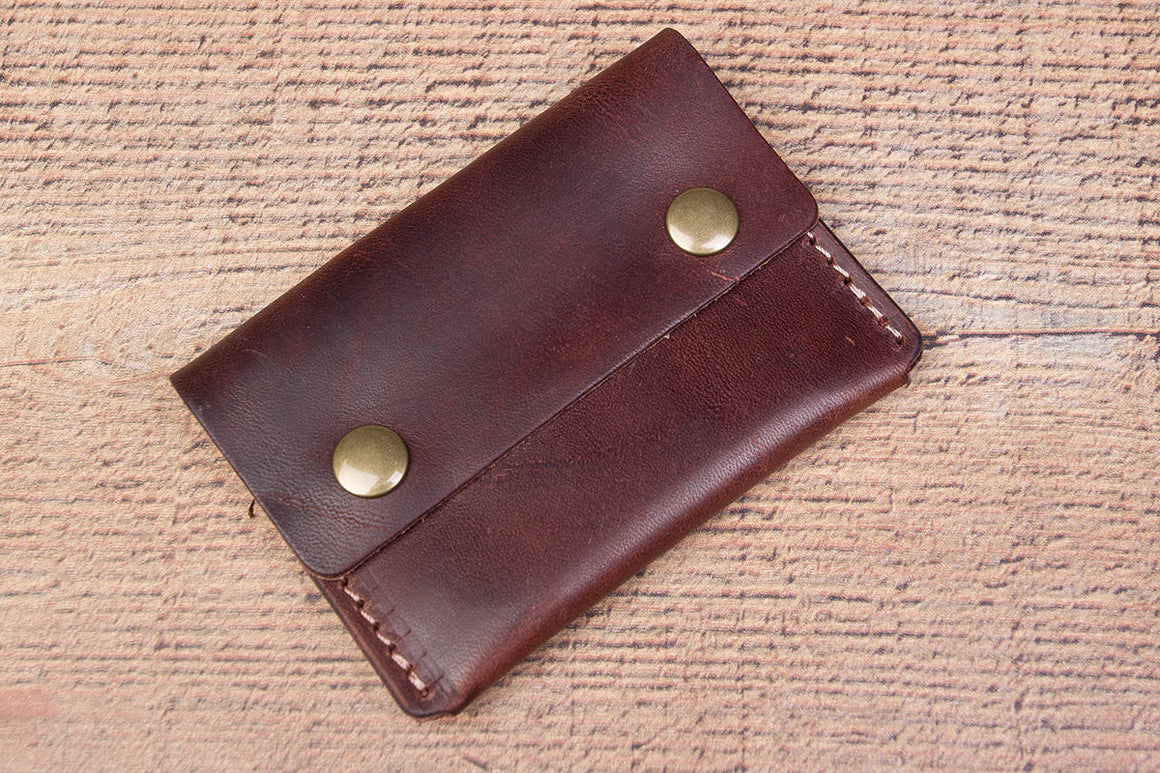 brown lincoln card wallet