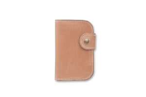 whiskey snap bifold leather wallet