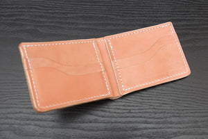 Classic | Suntanned Natural Leather Bifold Wallet - Thirteen50 Leather