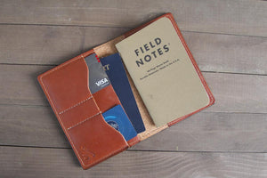Chestnut Leather Traveler Wallet
