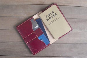 Oxblood Leather Traveler Wallet