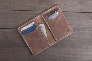 Vertical 6 Pocket | Big Hoss Leather Wallet