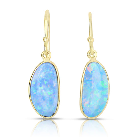Drop opal earrings