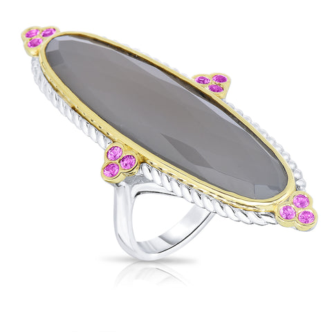 Enlongated oval ring
