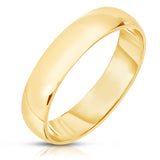 18k gold mens wedding band