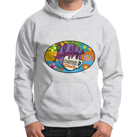 Gildan Hoodie (on man) Ash grey Scheffland Music Products