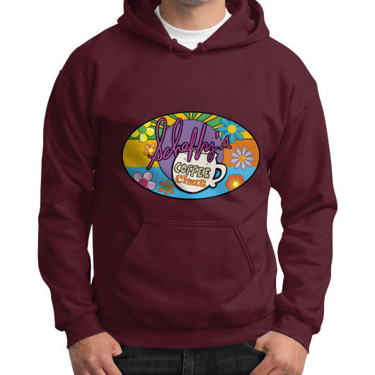 Gildan Hoodie (on man) Maroon Scheffland Music Products