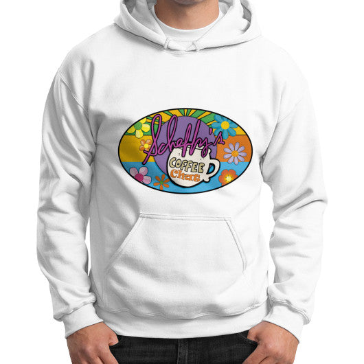 Gildan Hoodie (on man) White Scheffland Music Products