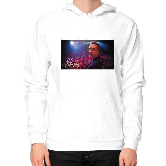 Hoodie (on man) White Scheffland Music Products
