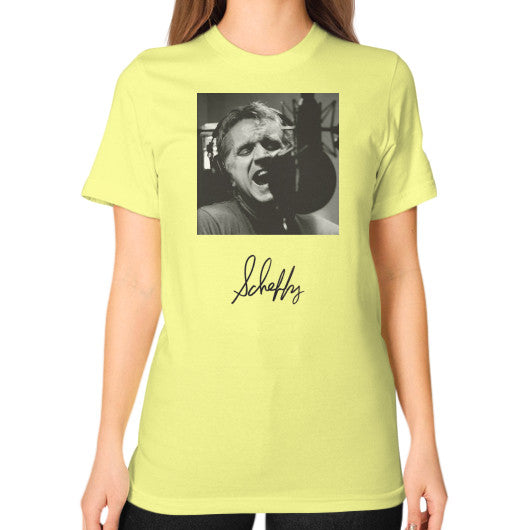 Unisex T-Shirt (on woman) Lemon Scheffland Music Products