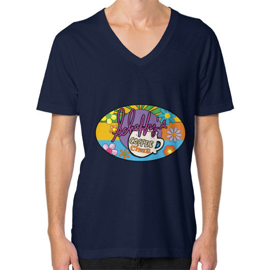 V-Neck (on man) Navy Scheffland Music Products
