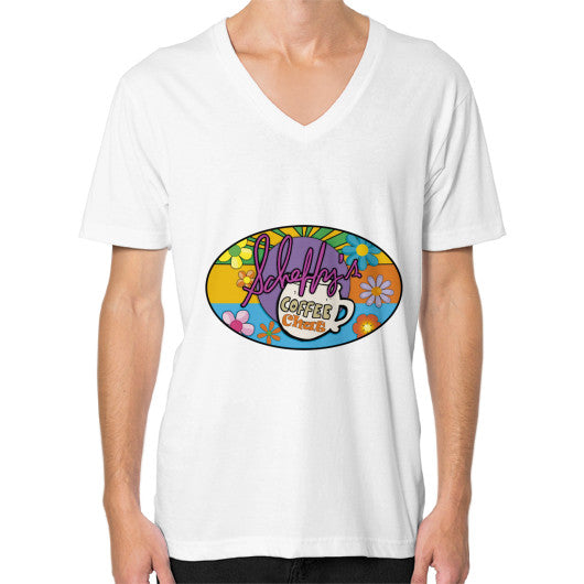 V-Neck (on man) White Scheffland Music Products