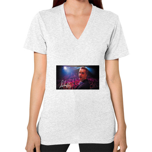 V-Neck (on woman) Ash grey Scheffland Music Products