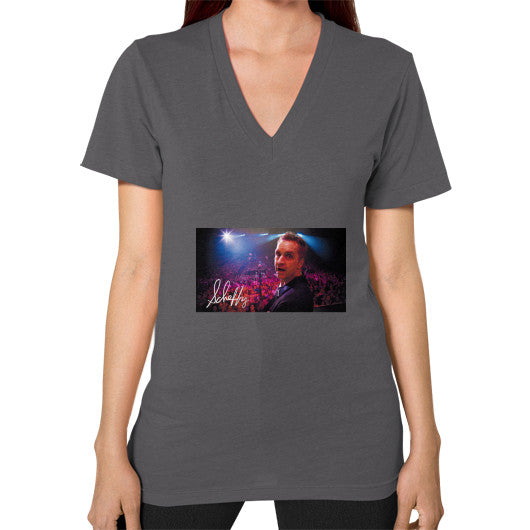V-Neck (on woman) Asphalt Scheffland Music Products