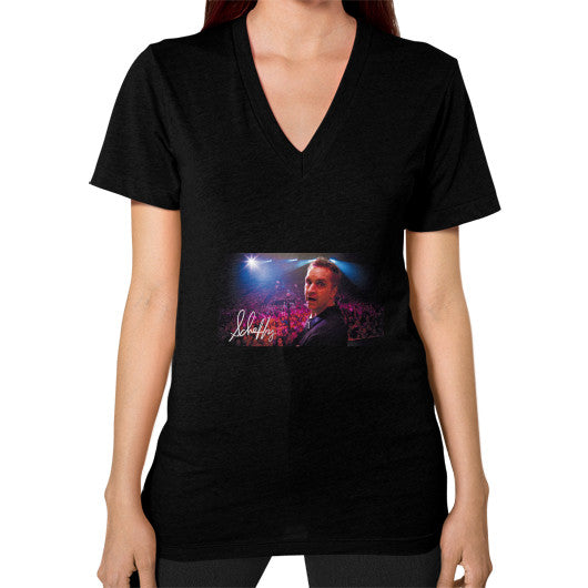 V-Neck (on woman) Black Scheffland Music Products
