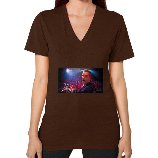 V-Neck (on woman) Brown Scheffland Music Products