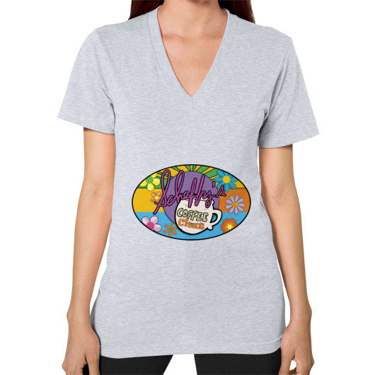 V-Neck (on woman) Heather grey Scheffland Music Products