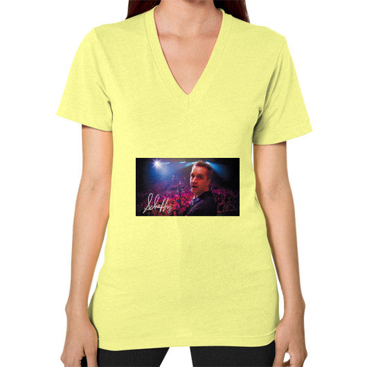 V-Neck (on woman) Lemon Scheffland Music Products