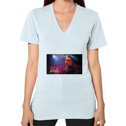 V-Neck (on woman) Light blue Scheffland Music Products