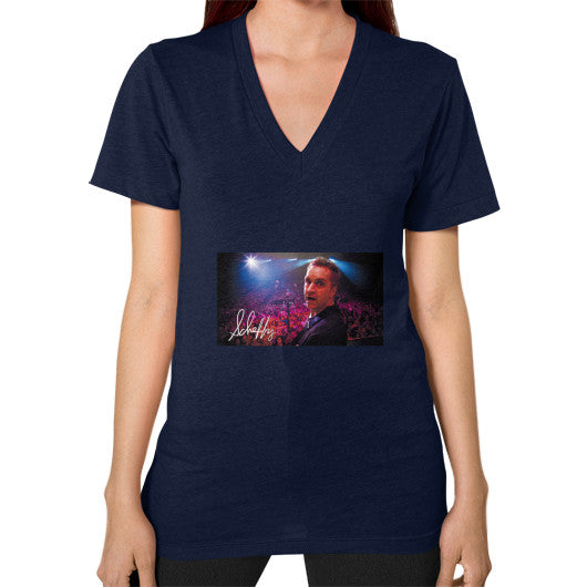 V-Neck (on woman) Navy Scheffland Music Products