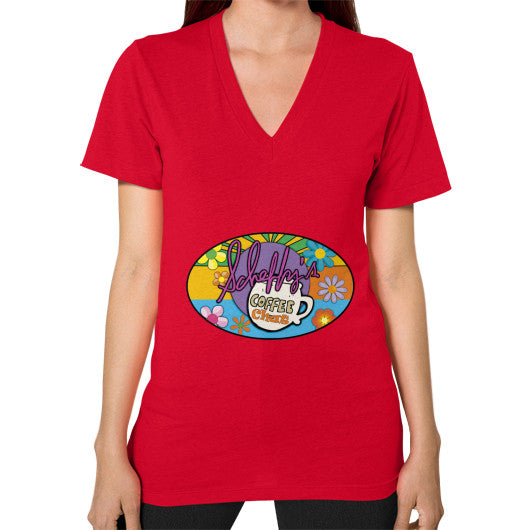 V-Neck (on woman) Red Scheffland Music Products