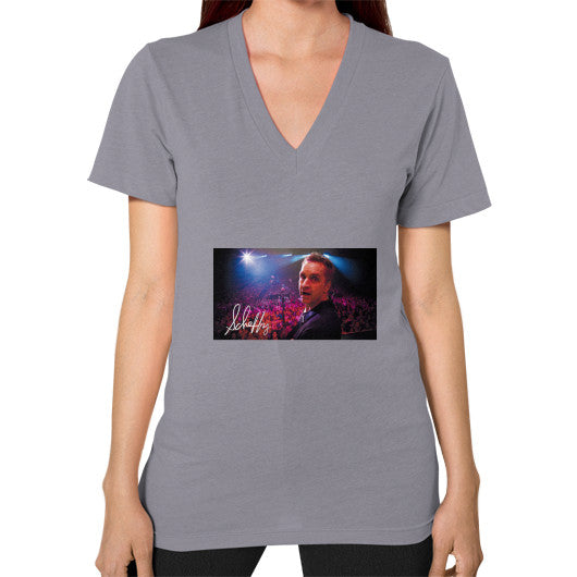V-Neck (on woman) Slate Scheffland Music Products
