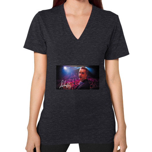 V-Neck (on woman) Tri-Blend Black Scheffland Music Products