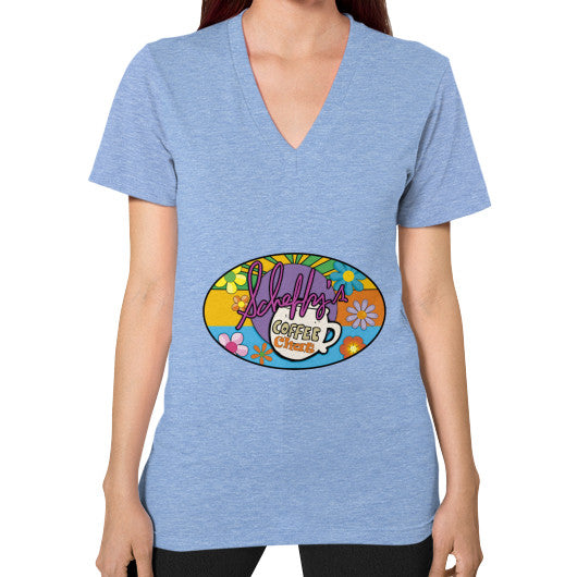 V-Neck (on woman) Tri-Blend Blue Scheffland Music Products