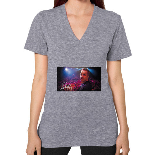 V-Neck (on woman) Tri-Blend Grey Scheffland Music Products