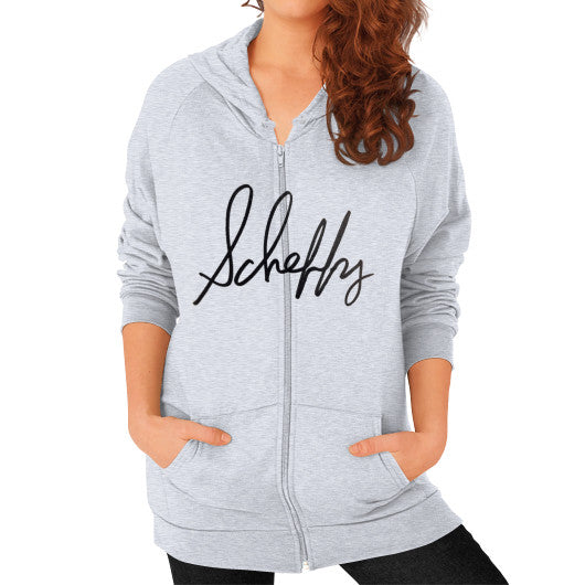 Zip Hoodie (on woman) Heather grey Scheffland Music Products