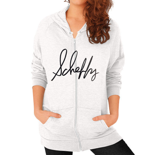 Zip Hoodie (on woman) Tri-Blend Oatmeal Scheffland Music Products