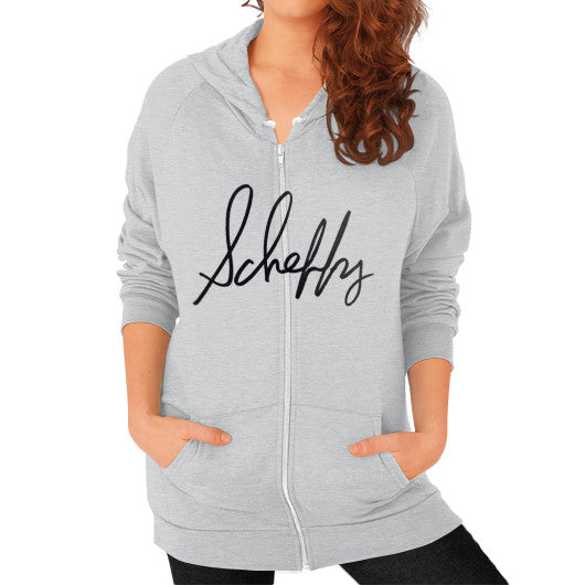 Zip Hoodie (on woman) Tri-Blend Silver Scheffland Music Products