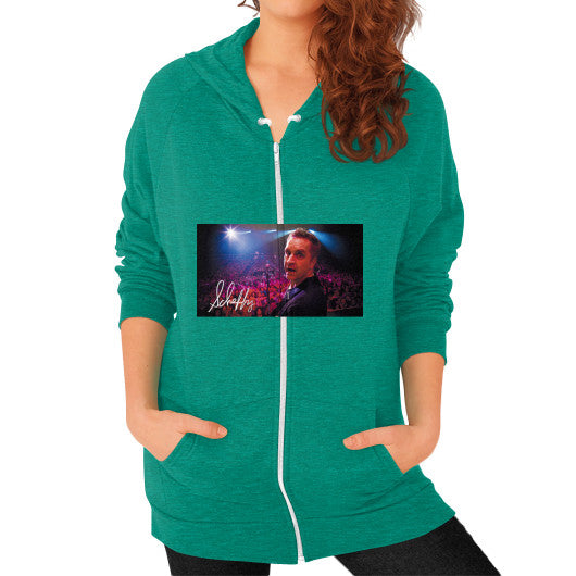 Zip Hoodie (on woman) Tri-Blend Vintage Green Scheffland Music Products