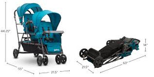 *NEW* Joovy Big Caboose Graphite Stand On Triple Stroller, Turquoise