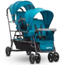 Load image into Gallery viewer, *NEW* Joovy Big Caboose Graphite Stand On Triple Stroller, Turquoise