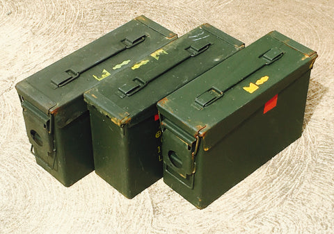 M19A1 (30 cal) empty cans -- 3 pack