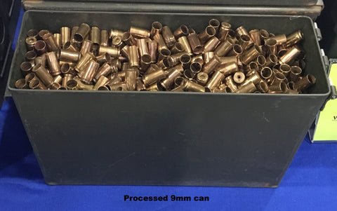 9mm brass + M19A1 Can -- Processed (~1600 ct)