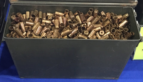 9mm brass + M19A1 Can -- Un-Processed (~1,600 ct)