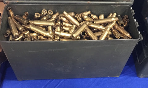 7.62 x 51 brass + M19A1 Ammo can -- Un-Processed (~400 ct)
